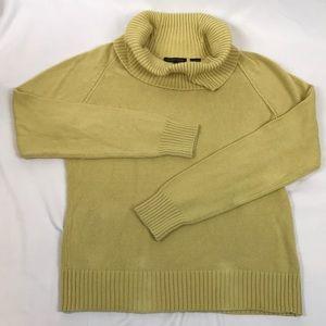 JEANNE PIERRE Sweaters - Jeanne Pierre- Yellow/gold cowl sweater, M